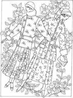 wonderful flower fashion desaign coloring pages