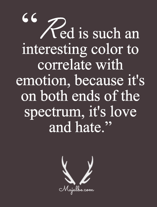 Red Is Love And Hate