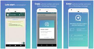 تطبيق Quick Message for WhatsApp لاسال رسائل واتساب للارقام الغير محفوظة