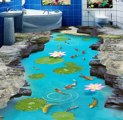 best 3D bathroom floor tile design ideas for modern home flooring 2019