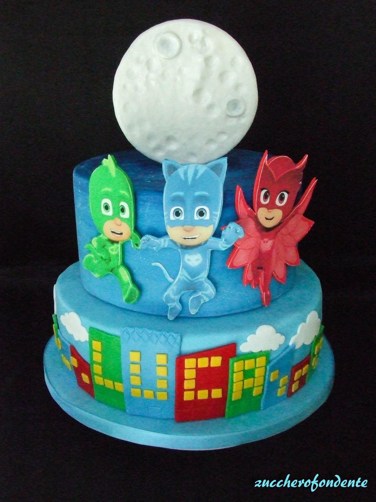 Zuccherofondente torta superpigiamini pj mask cake
