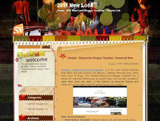 2011 New Look -  blogger template - fashion blog
