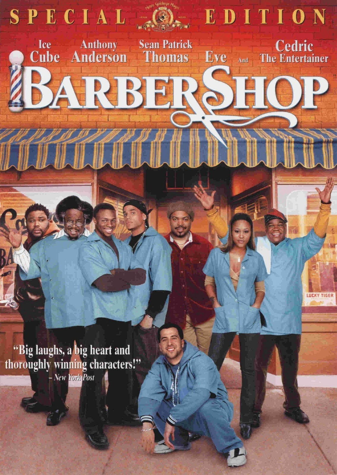 movie review quotbarbershopquot 2002 lolo loves films