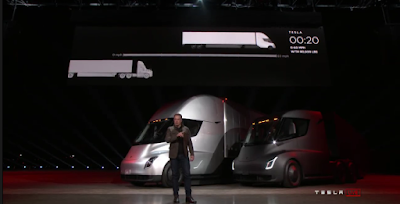 Elon Musk at the launch of the Tesla Semi Truck