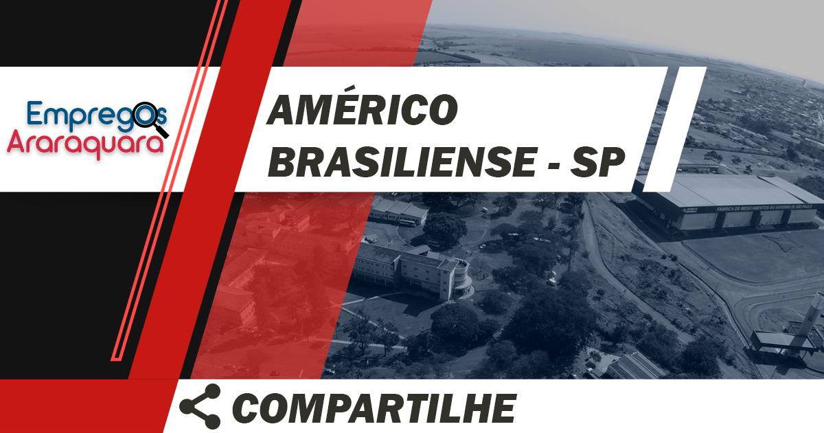 Auxiliar de Vendas / Américo Brasiliense - SP / Cód. 3501