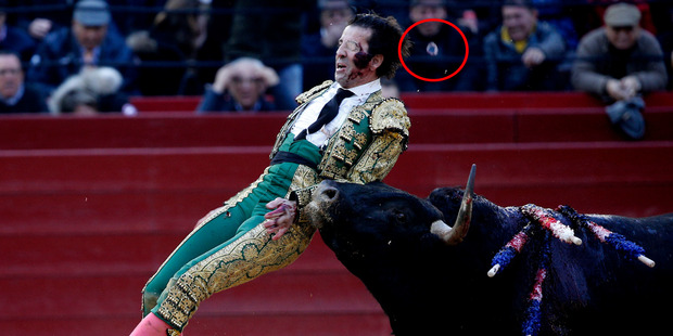 Bullseye! Matador's glass eye knocked out by bull