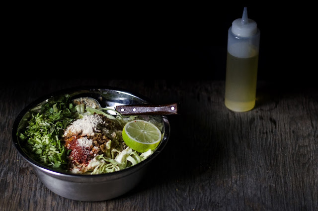 Classic burmese cabbage cole slaw