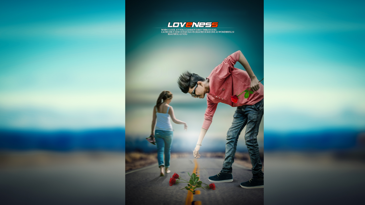Poster design photoshop - Loveness Creative Photo Manipulation Best Photoshop Poster Design Tutorial