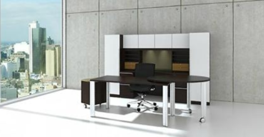 Cherryman Verde Modern White Glass Executive Desk Set