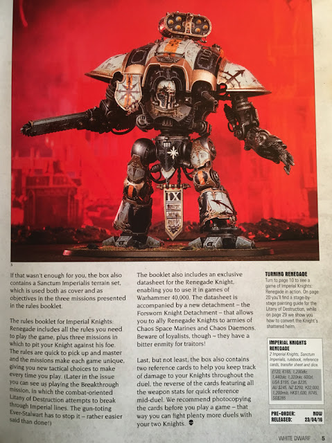 Imperial knight renegade White Dwarf