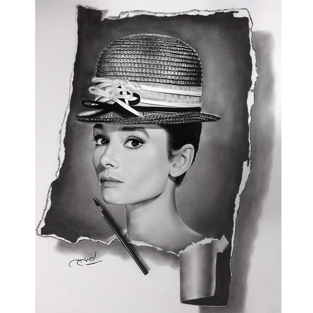 09-Audrey-Hepburn-aymanarts-Realistic-Drawings-of-Celebrities-and-Other-www-designstack-co