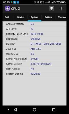 Melihat Detail System Pada Smartphone Android Menggunakan CPU-Z