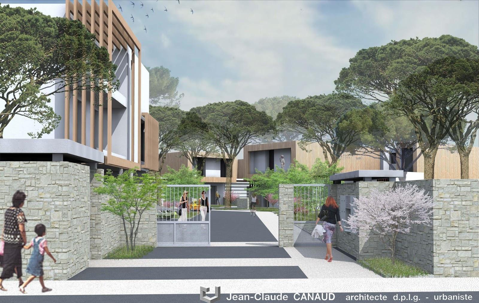 canaud architecte projet de 30 logements interm diaire gard. Black Bedroom Furniture Sets. Home Design Ideas