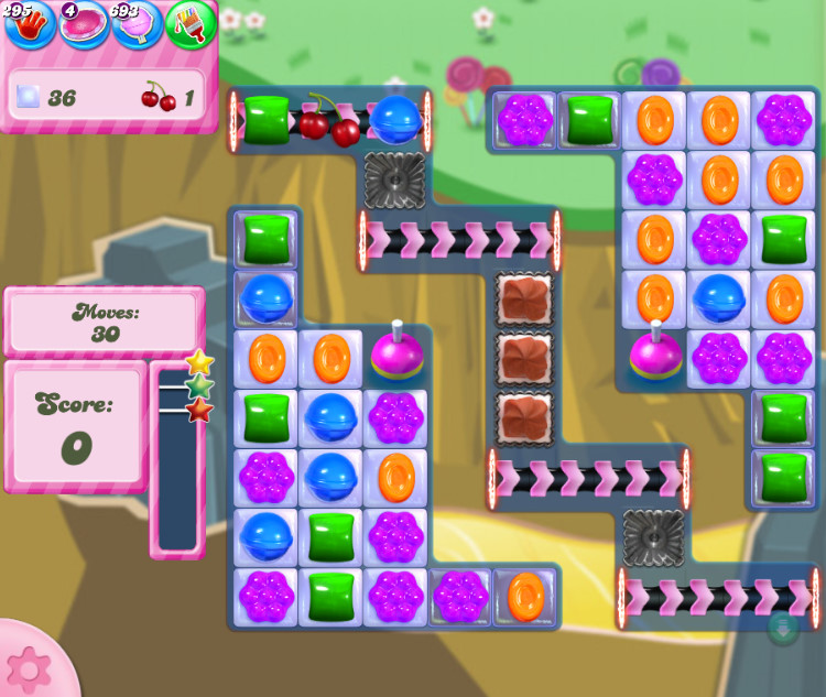 Candy Crush Saga level 2843