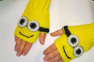 guanti minions senza dita