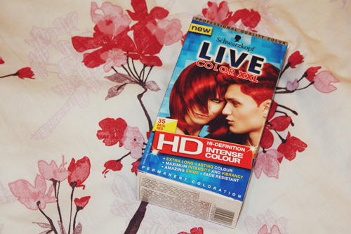 schwarzkopf live xxl colour in real red on francescasophia.co.uk