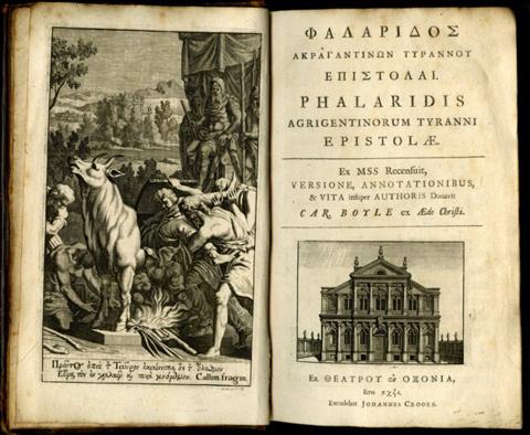 Edición de las apócrifas cartas del tirano Falaris