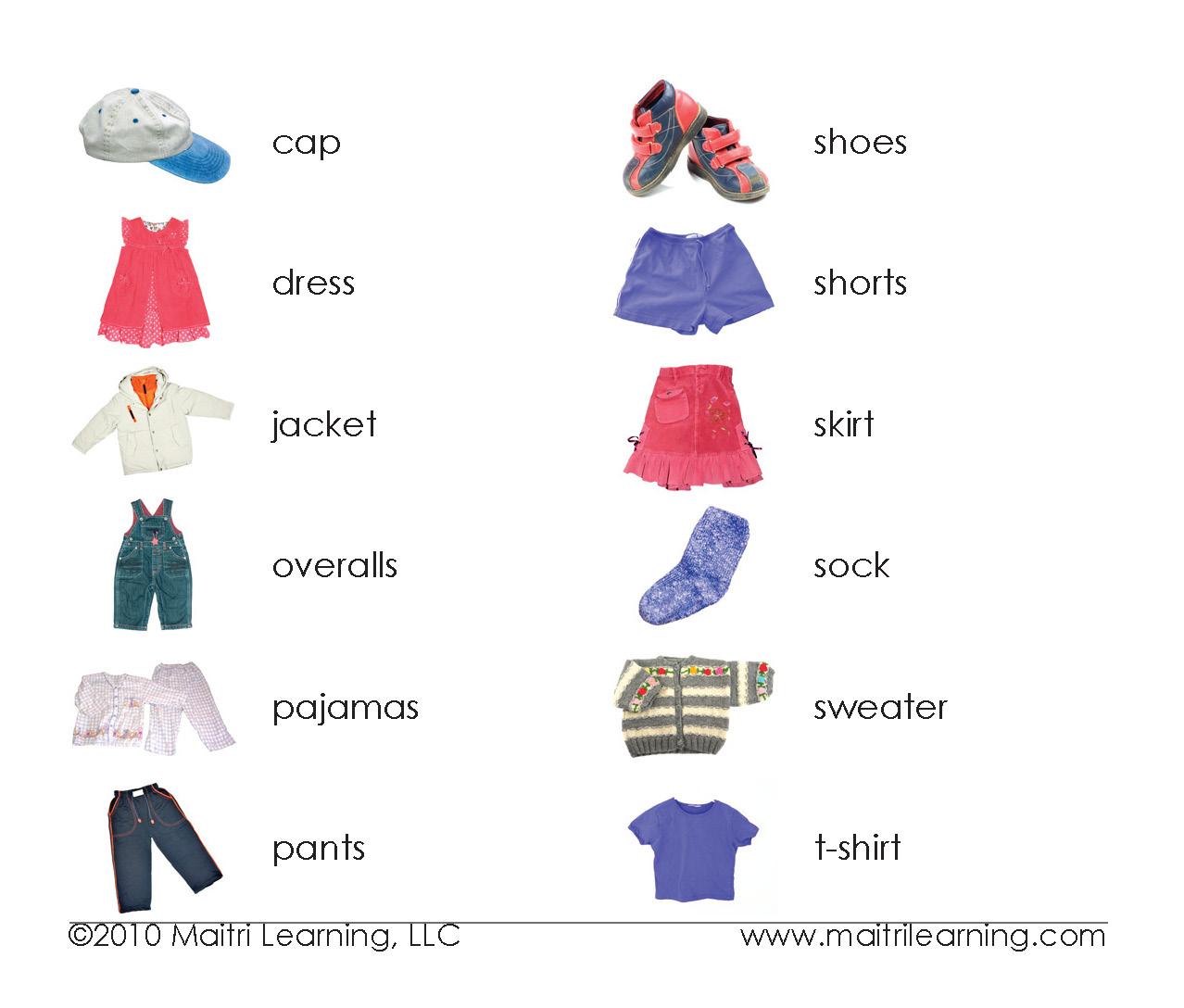 Vocabulary Clothes Vocabulary