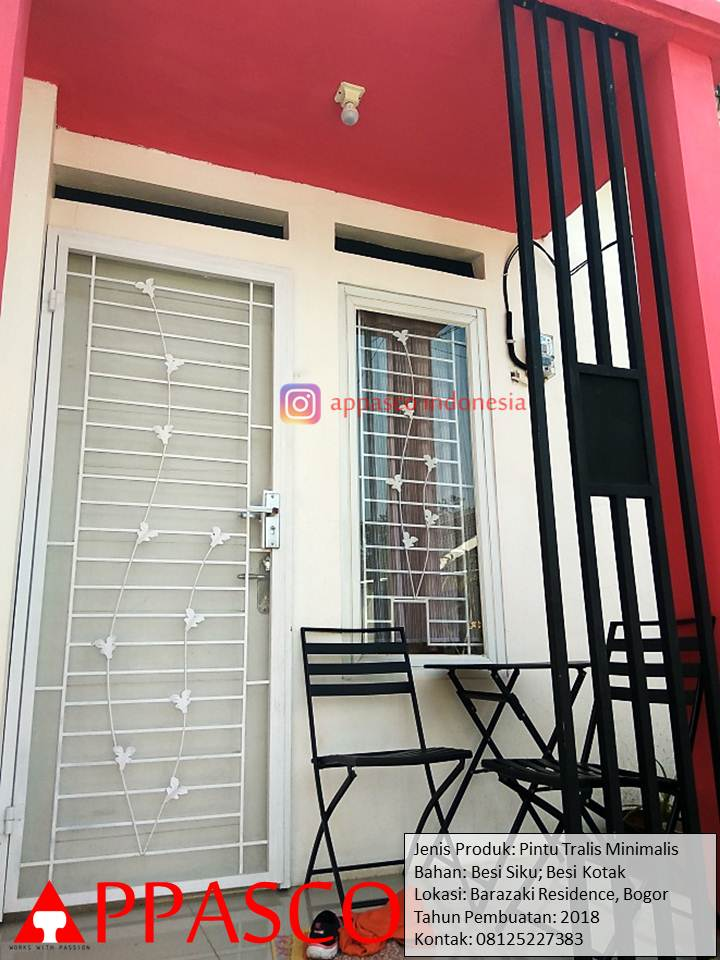 Pintu Teralis Minimalis di Barazaki Residence Bogor