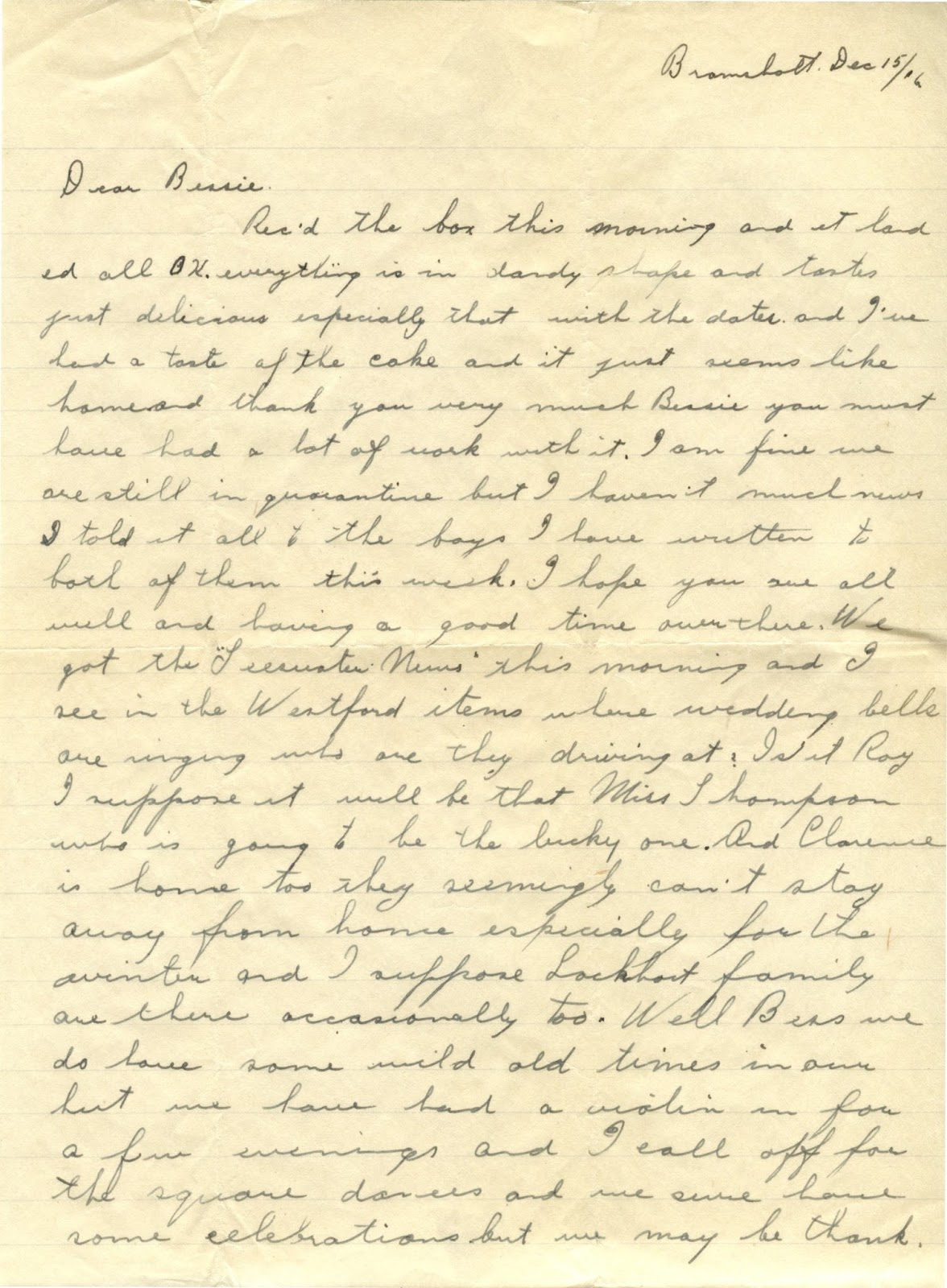 ww1 letters home p a  murray  december 15  1916
