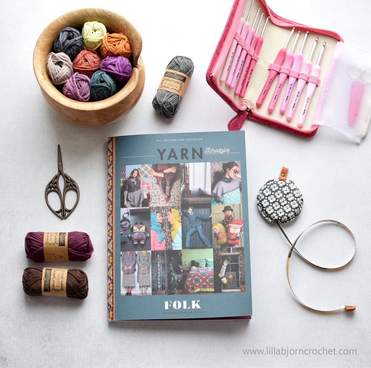 FOLK - YARN 6 book-a-zine by Scheepjes