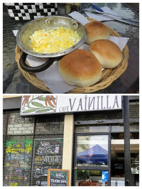 Breakfast at Cafe Vainilla in Providencia neighborhood of Santiago Chile