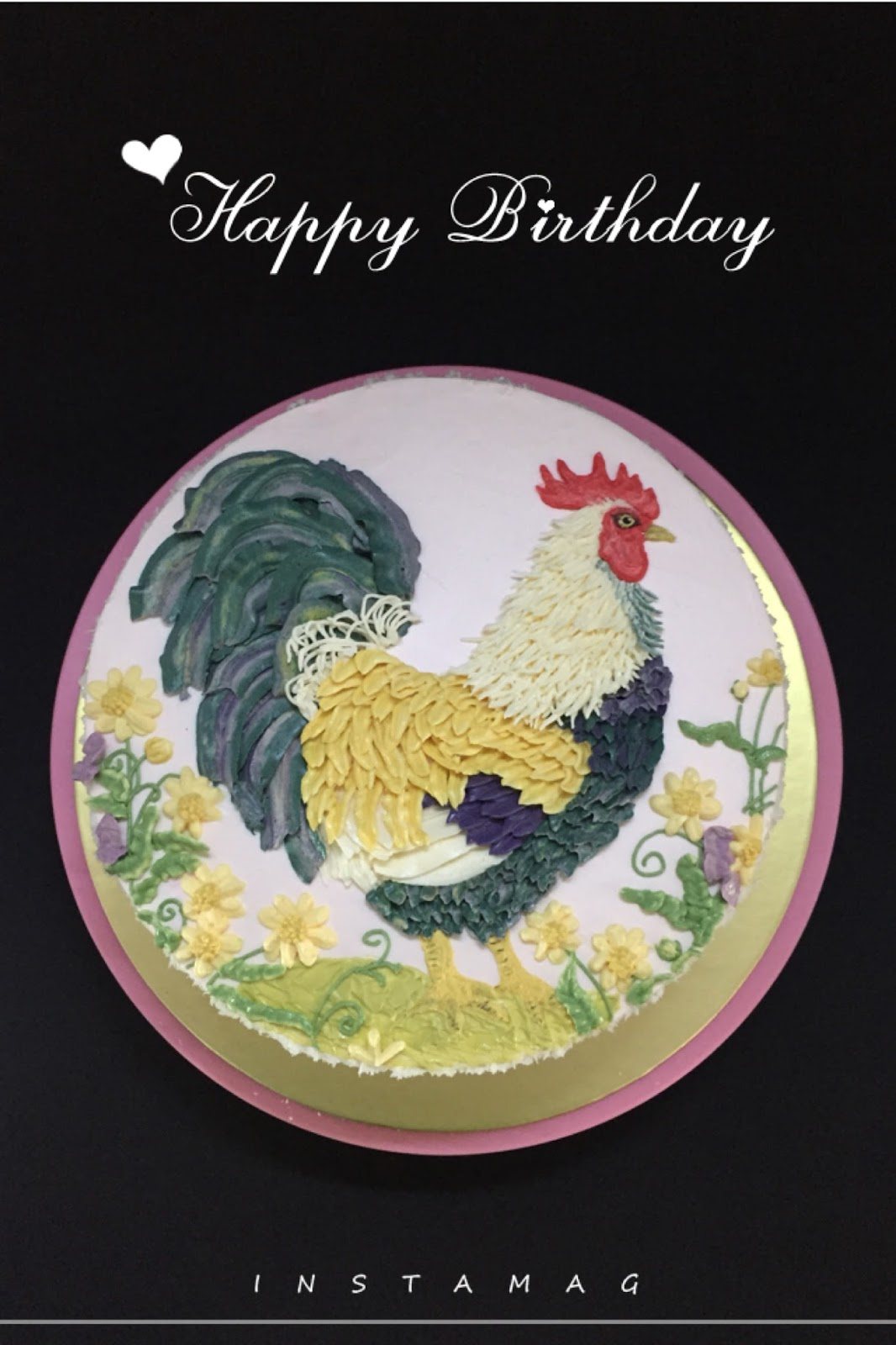cherish bakes a rooster cake