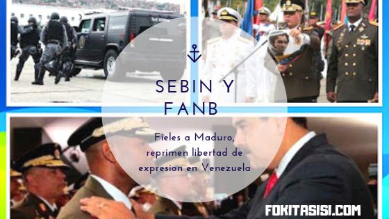 (Imagen) El SEBIN (Servicio Bolivariano de Inteligencia Nacional) y la cúpula militar de la FANB (Fuerza Armada Nacional Bolivariana) atentan contra la voluntad del pueblo de Venezuela