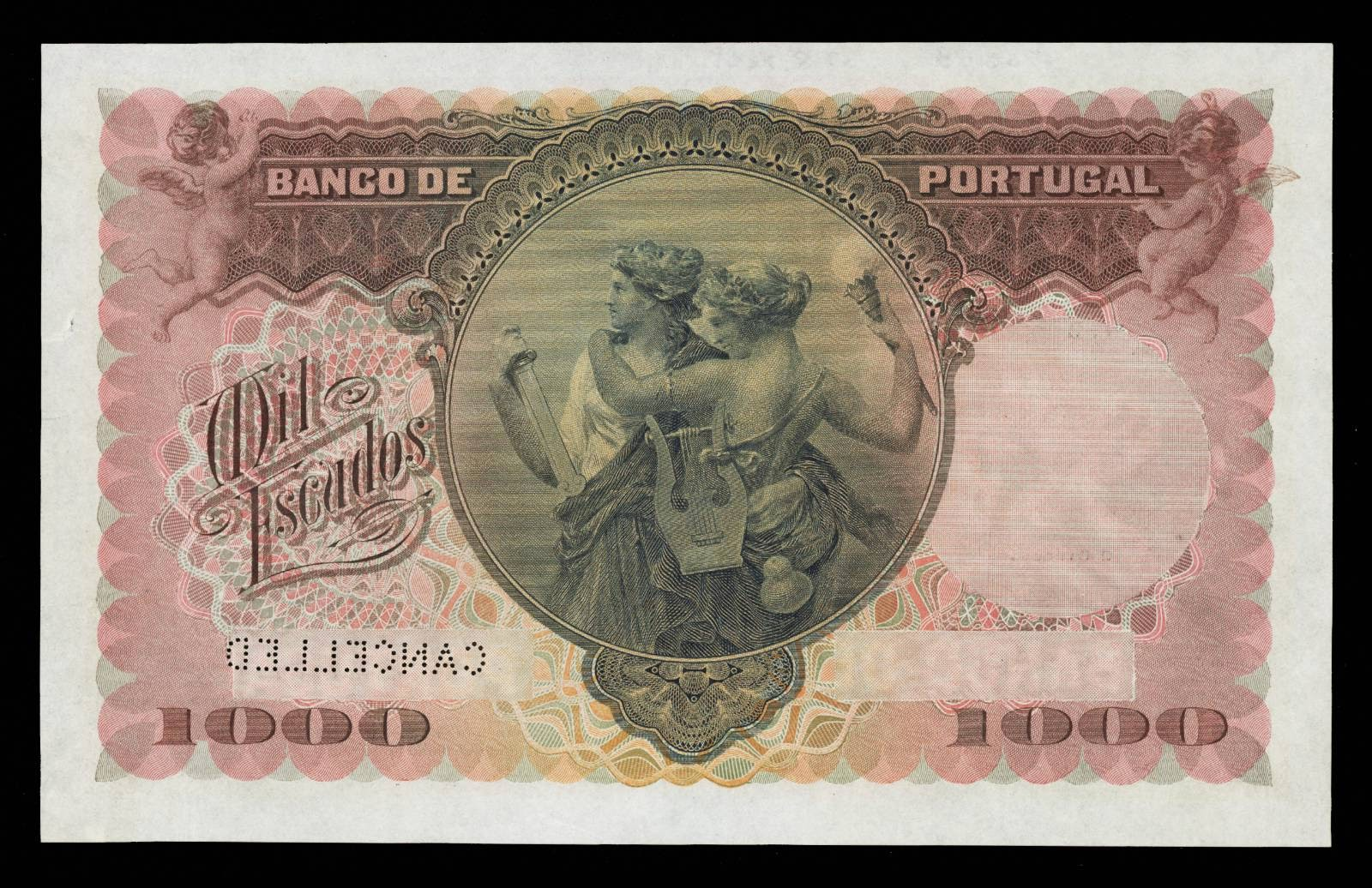 100 Escudos Portugal old bank note