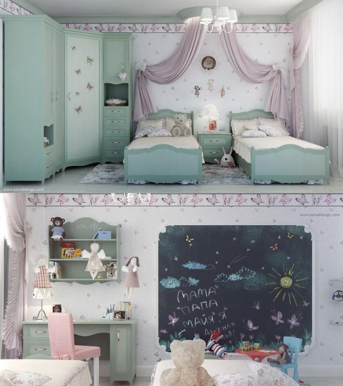 Hogares frescos 100 dise os de habitaciones para ni as - Habitaciones para ninas ...