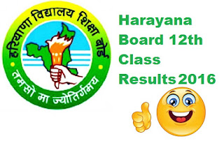 Haryana Board 12th Results 2016