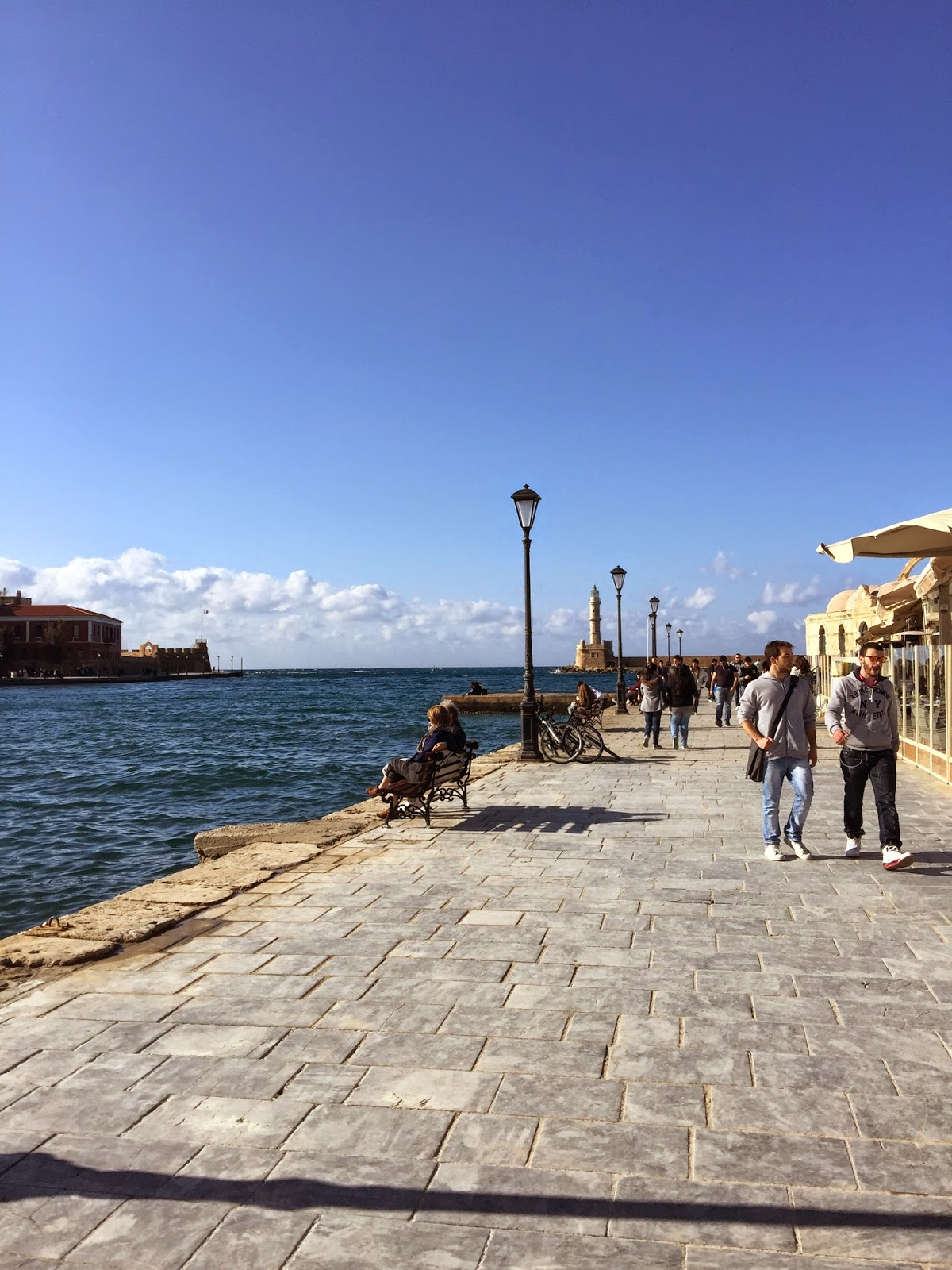 Harbor in Chania on Greek island of Crete