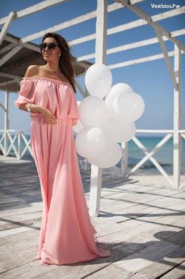 Vestidos de verano color rosa