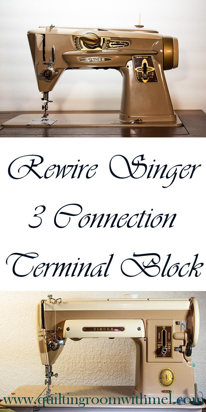 hight resolution of rewire vintage singer sewing machine three connection terminal block