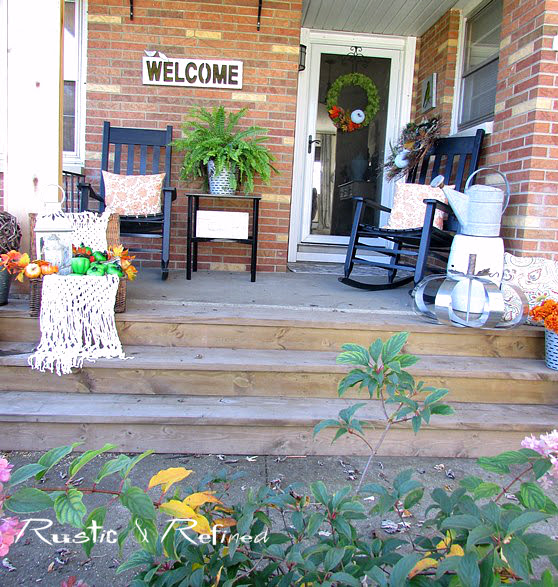 Rustic Front Porch Decorating
