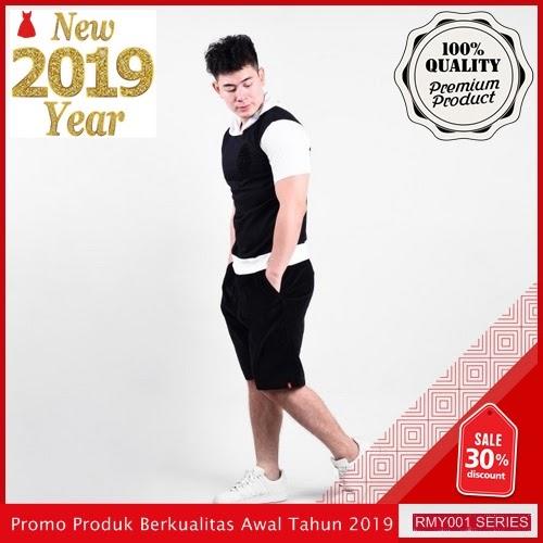 RMY109C27 Celana Pendek Corduray Hitam Keren Trendy BMGShop