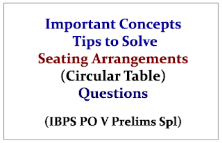 Important Concepts and Tips to Solve Circular Table (based on questions asked in IBPS PO Prelims Exam held on Oct 3rd& 4th) - Download in PDF