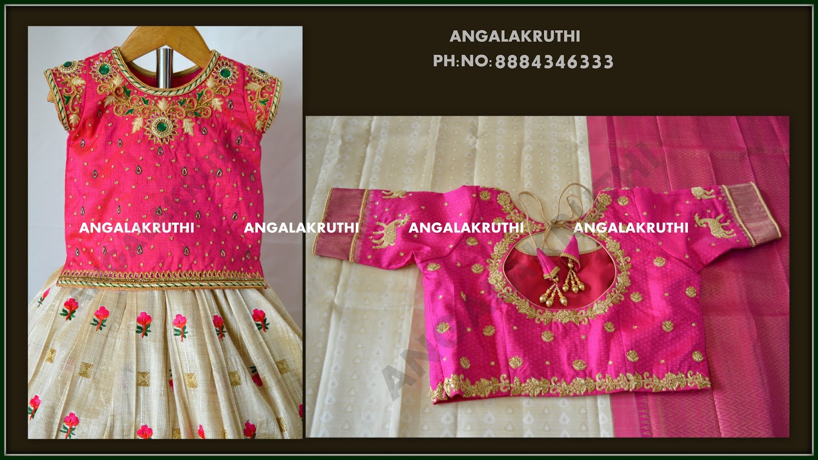Angalakruthi Boutique Ladies And Kids Designer Boutique In Bangalore Blouse Embroidery Designs By Angalakruthi Boutique Bangalore Watsapp 8884346333