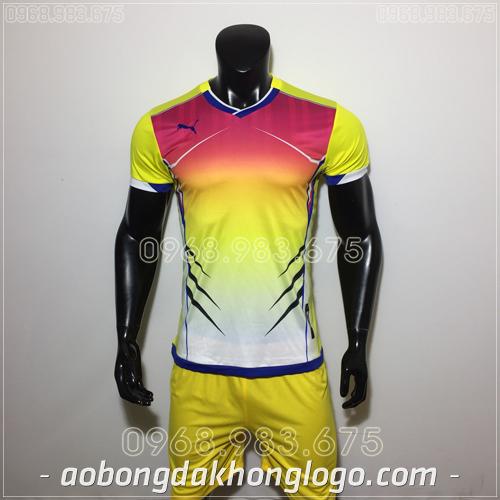 Áo bóng đá không logo Puma HQN Luka màu vàng