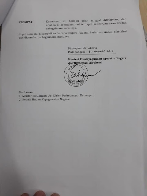 Formasi Penerimaan CPNS Kabupaten. Padang Pariaman Tahun 2018
