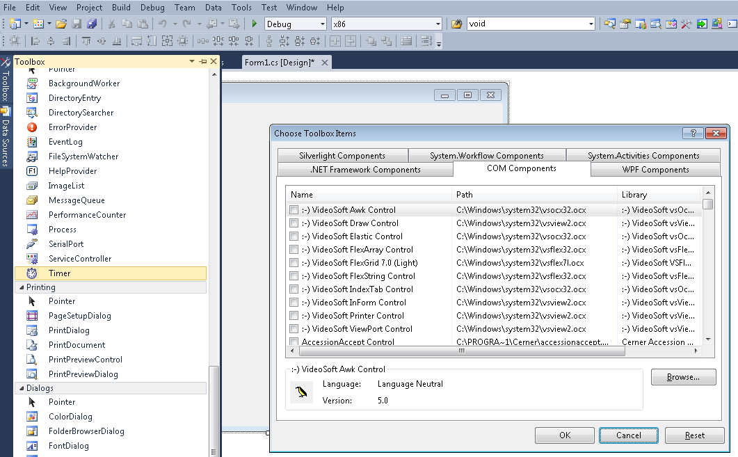 Ideas on Hand: Creating RCW Interops from ActiveX (OCX) Controls