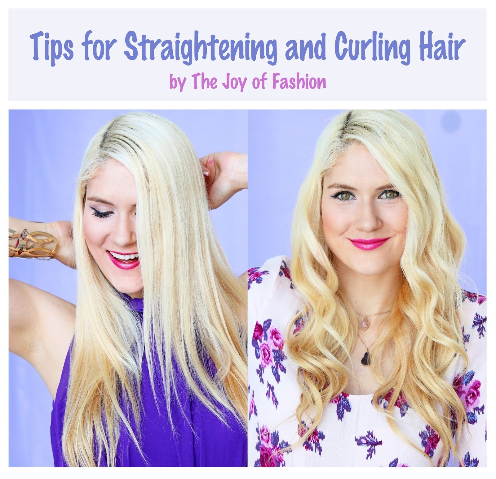Click through for some easy tips on how to straighten or curl hair