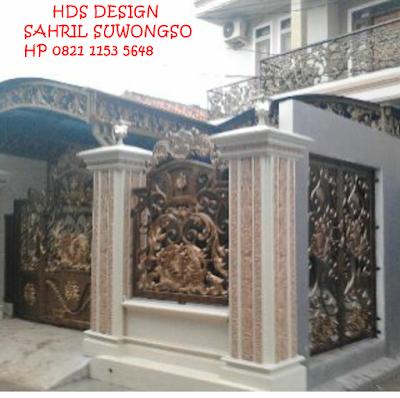 pagar dan pintu untuk rumah mewah