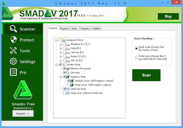 Catatan Ikrom Tampilan Smadav Anti Virus Anti Ransomware