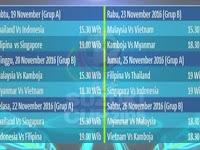 Jadwal AFF 2016 Piala Suzuki Cup Siaran Langsung Dan Jam Tayang
