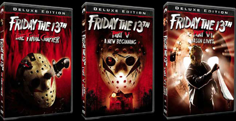 Friday the 13th 1-4 r1 dvd box set deluxe edition rare.