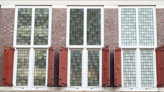 Stained glass windows and shutters in Rotterdam