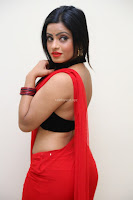 Aasma Syed in Red Saree Sleeveless Black Choli Spicy Pics ~  Exclusive Celebrities Galleries 036.jpg
