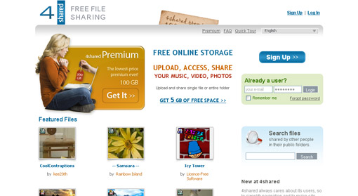 free online file sharing and storage