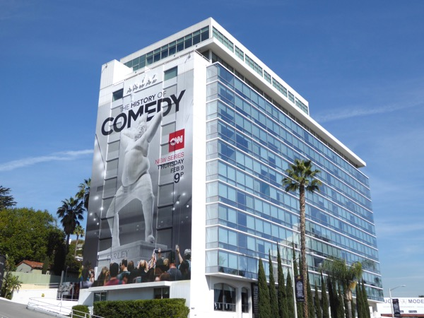 Giant History of Comedy series premiere billboard